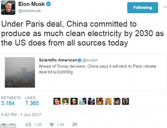 Elon Musk quits Trump's presidential councils over Paris