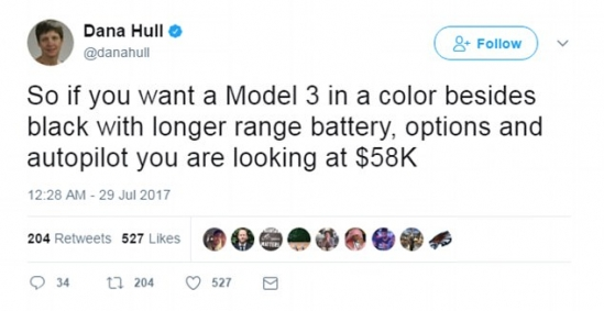 The 'every man' Model 3 Tesla comes with a catch