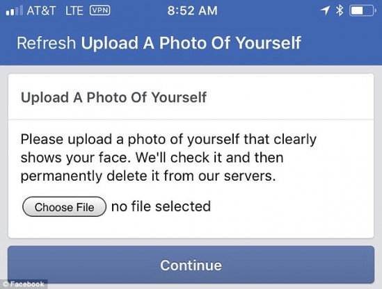 Facebook tells users to upload a 'clear' selfie new rules