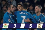 Real Betis 3-5 Real Madrid: Ba điểm thót tim